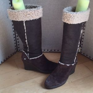 UGG Shearling Wedge Boots